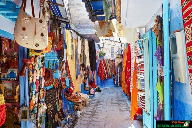 Cảnh vật tươi tắn ở các con phố Marrakech