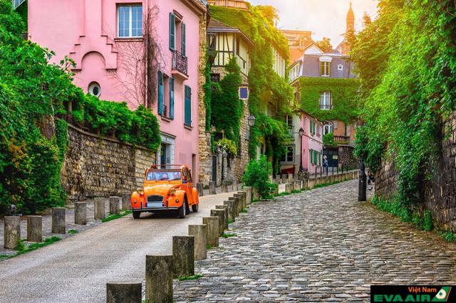Cảnh đẹp tựa như tranh ở các con phố ở Paris