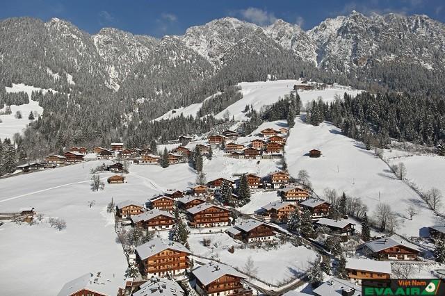Alpbach là thị trấn trượt tuyết hoàn hảo cho mùa đông