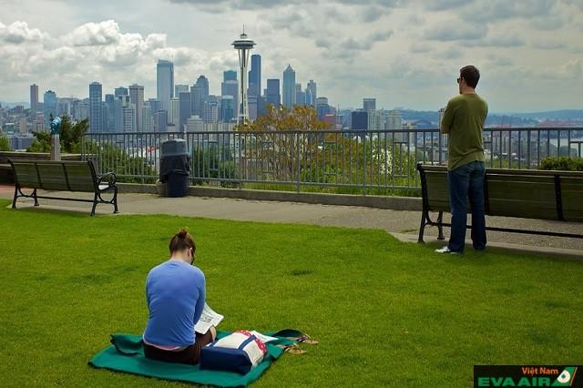 Kerry Park có một không gian xanh đẹp, không khí trong lành và yên tĩnh