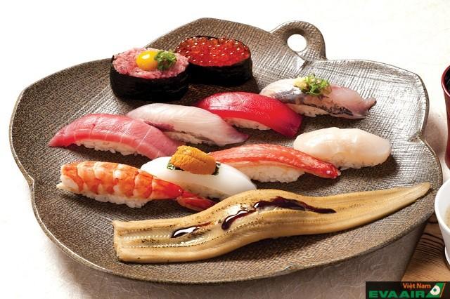 Tama Sushi  nơi quy tụ những loại sushi với nguyên liệu màu sắc đa dạng