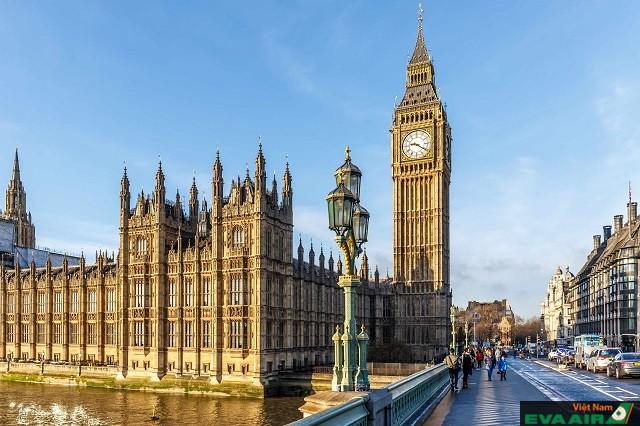 Tháp đồng hồ Big Ben, biểu tượng cao quý của Vương quốc Anh