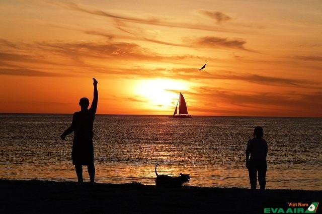 Clearwater Beach để bạn ngắm nhìn hoàng hôn lãng mạn