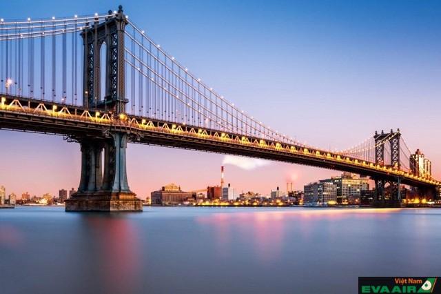 Cầu Manhattan kết nối với Canal, Manhattan và đại lộ Flatbush, quận Brooklyn