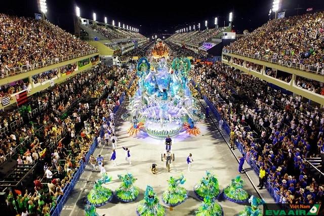 Không khí tưng bừng náo nhiệt ở lễ hội Rio Carnival, Brazil