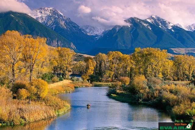 Montana nơi có cảnh quan thiên nhiên hoang sơ và khung cảnh yên bình thơ mộng