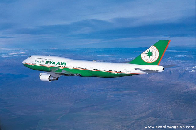 Which country is EVA Air's airline ticket?