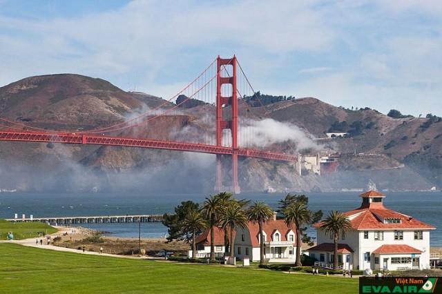 Công viên trong khu bảo tồn quân sự Presidio là khu vực dã ngoại xinh đẹp bậc nhất San Francisco