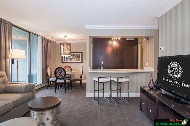 Phòng nghỉ với thiết kế nội thất sang trọng mang lại cảm giác thư giãn thoải mái